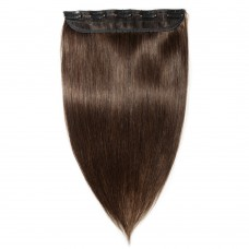 1 Piece Straight Clip In Remy Hair Extensions #2 Dark Brown