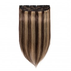 1 Piece Straight Clip In Remy Hair Extensions #4/27