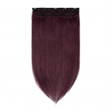 1 Piece Straight Clip In Remy Hair Extensions #99J Wine Red