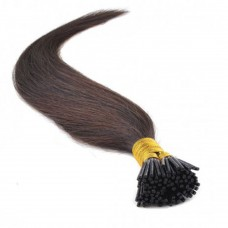 50g 0.5g/s Straight I-Tip Hair Extensions #2 Dark Brown