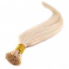 50g 0.5g/s Straight I-Tip Hair Extensions #60 Platinum Blonde