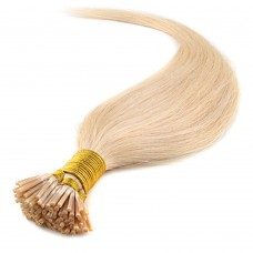 50g 0.5g/s Straight I-Tip Hair Extensions #613 Bleach Blonde