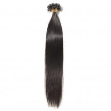 100s 0.5g/s Straight U-Tip Hair Extensions #1B Natural Black