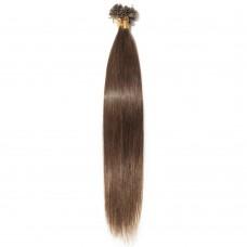 100s 0.5g/s Straight U-Tip Hair Extensions #4 Medium Brown