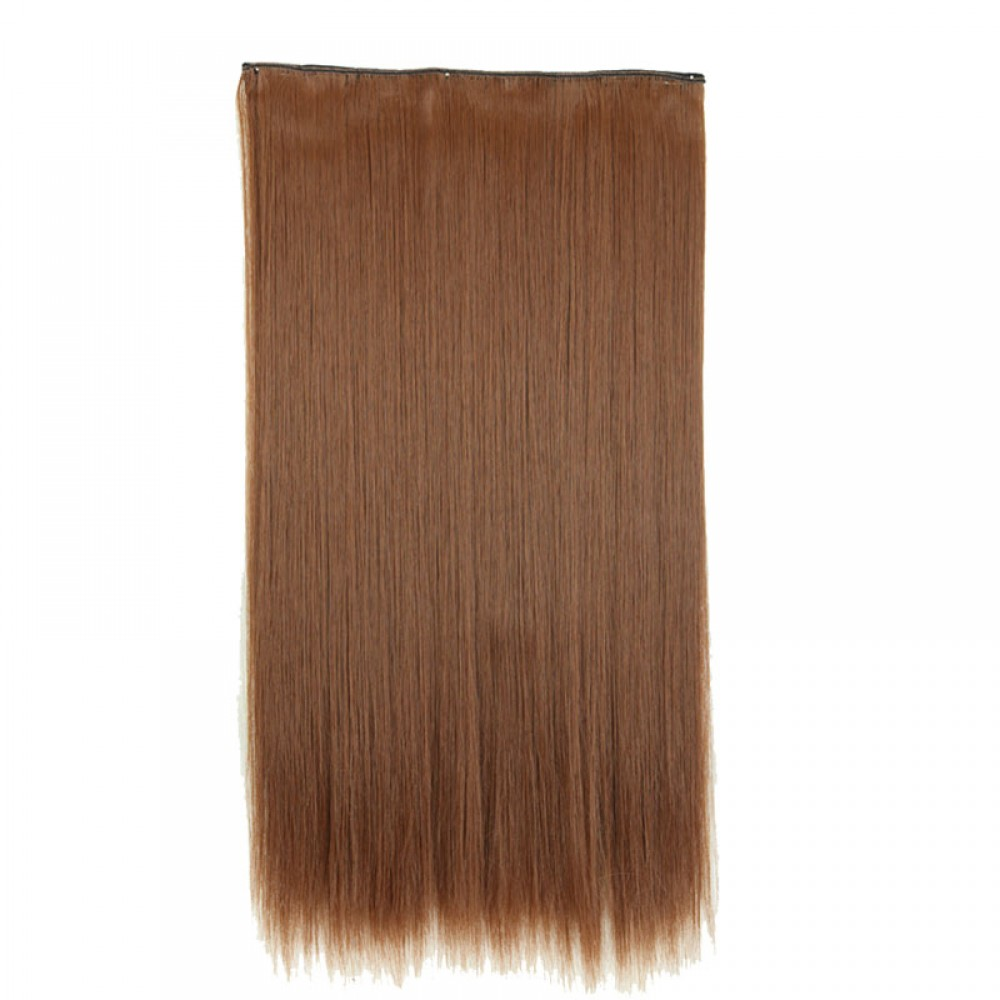 26 12 Light Brown 1pcs Straight Synthetic Clip In Hair Extensions