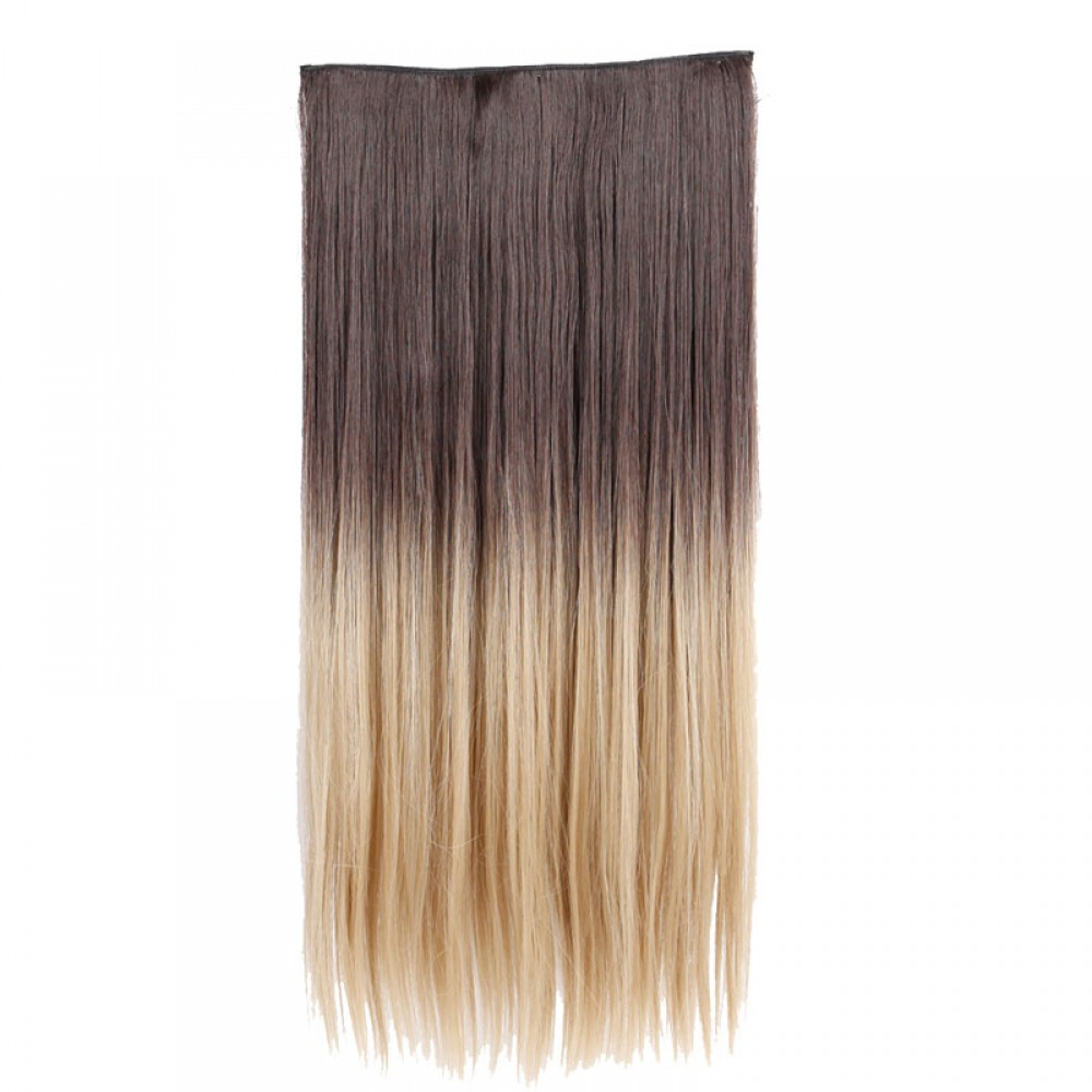 "25"" #4H24  1Pcs Straight Synthetic Clip In Hair Extensions"