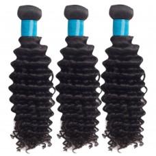 3 Bundles Deep Curly 6A Virgin Malaysian Hair 300g