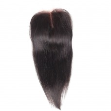 "10-18"" Virgin Brazlian Hair Straight 4*4 Free Part Lace Frontal Closure"