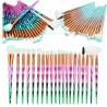 20 PCS Unicorn Diamond Make up Brushes