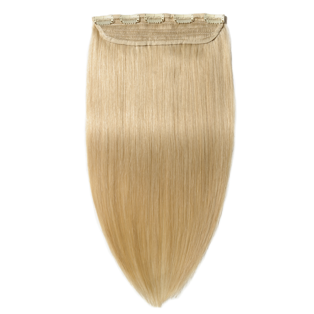 """Thick One Piece Straight Clip In Remy Hair Extensions #613 Bleach Blonde 20"""""""