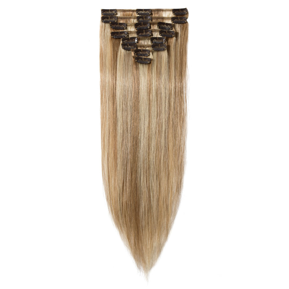 8 Pcs Straight Clip In Remy Hair Extensions #12/613