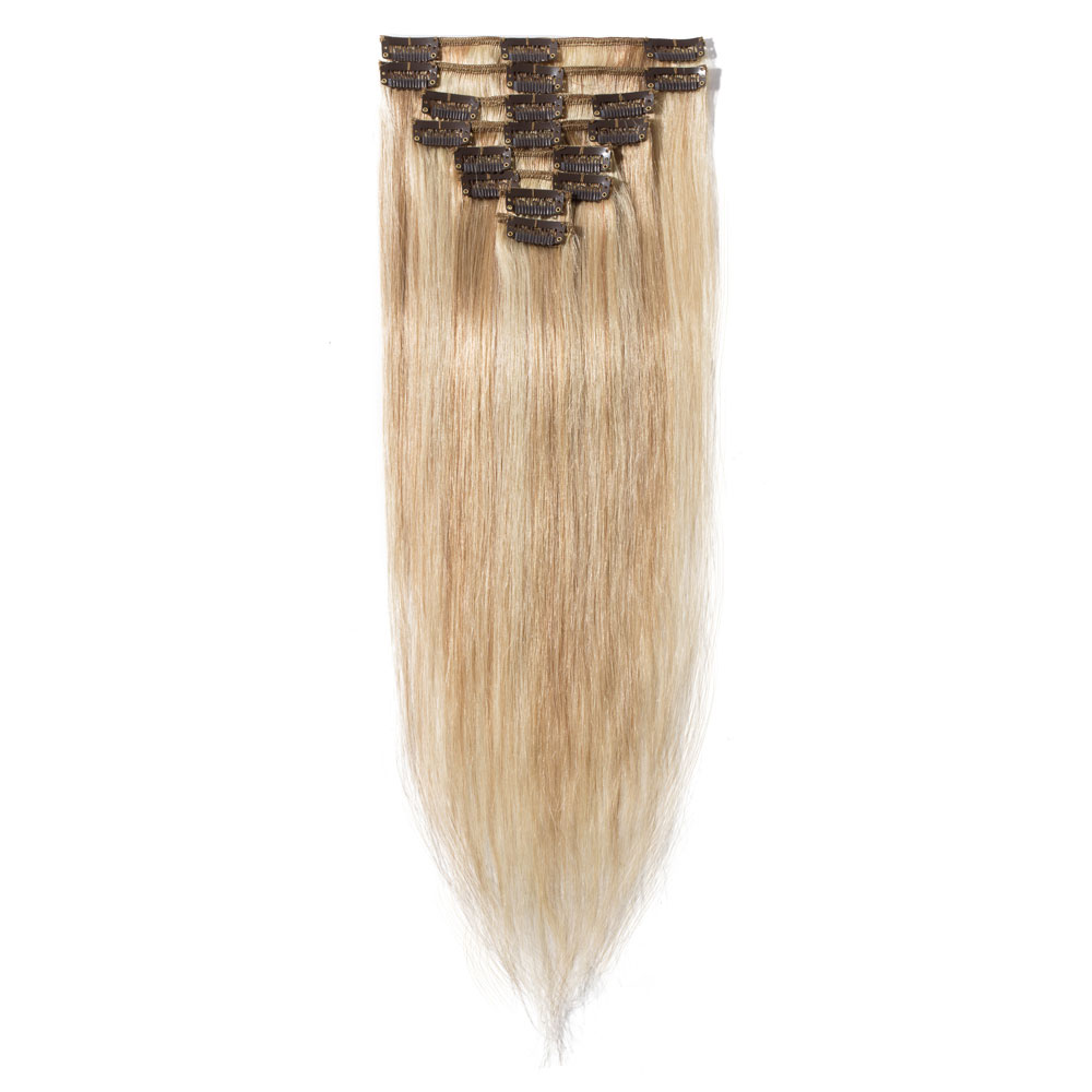 8 Pcs Straight Clip In Remy Hair Extensions #18/613