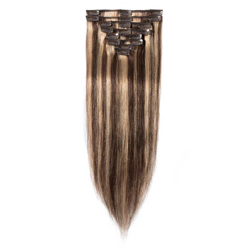 8 Pcs Straight Clip In Remy Hair Extensions 427