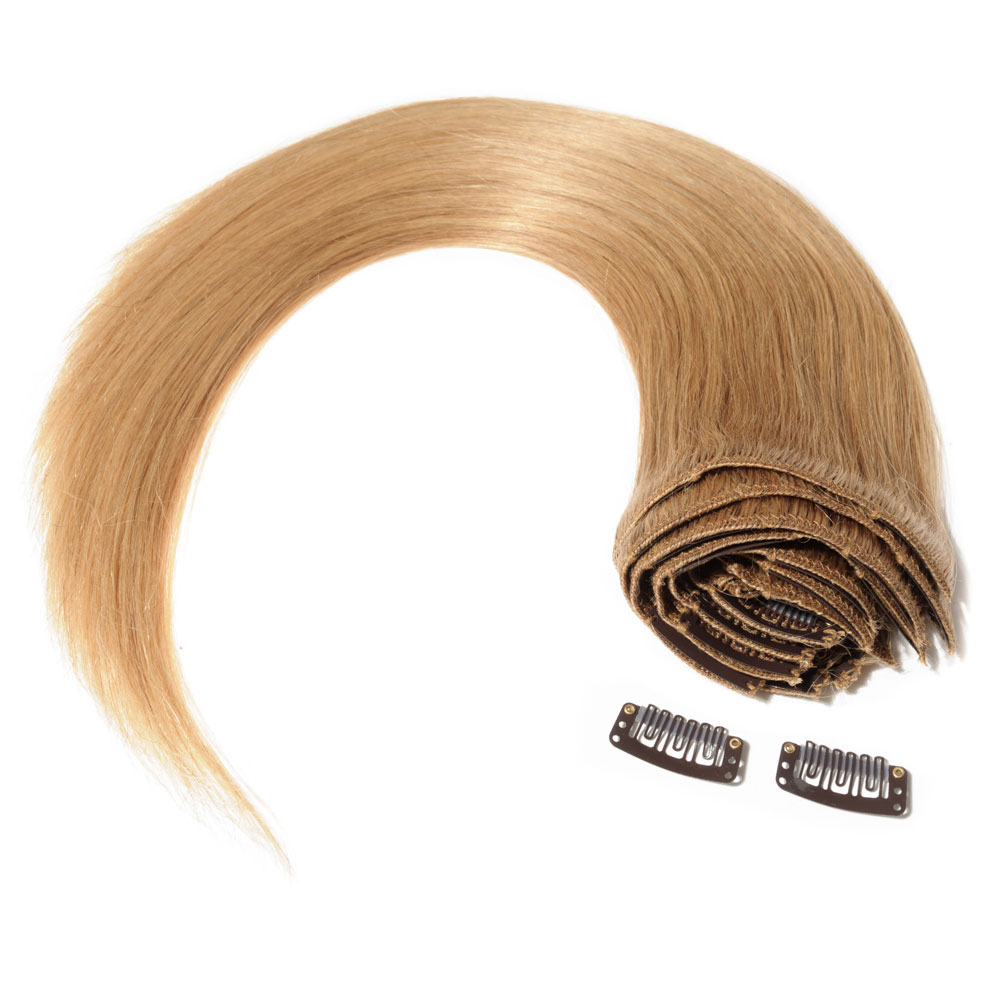8 Pcs Double Weft Straight Clip In Remy Hair Extensions