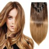 "【 16""-22"" 】8 Pcs Double Weft Straight Clip In Remy Hair Extensions #2/6"