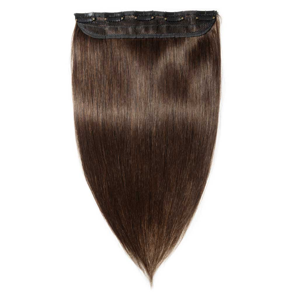 1 Piece Straight Clip In Remy Hair Extensions 2 Dark Brown