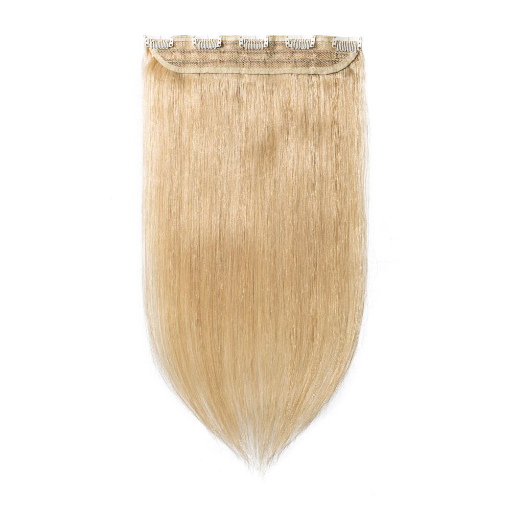 1 Piece Straight Clip In Remy Hair Extensions #24 Ash Blonde