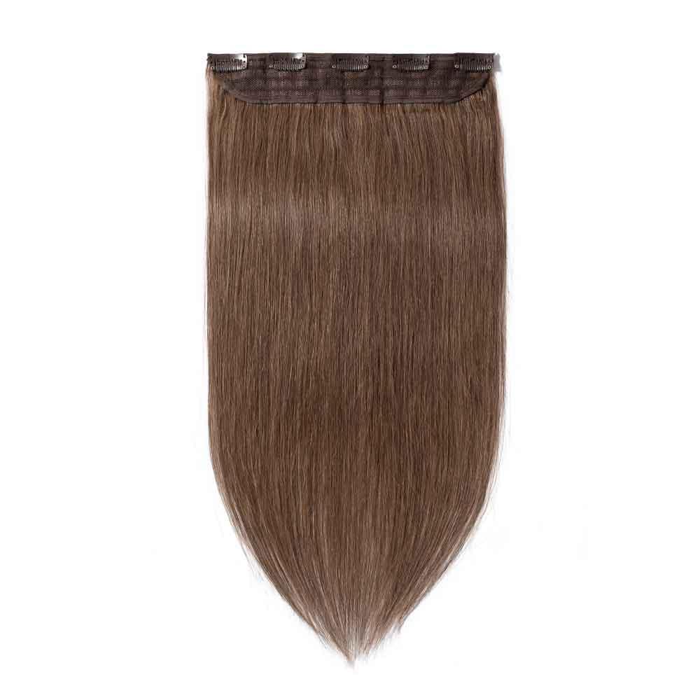 1 Piece Straight Clip In Remy Hair Extensions #30 Light Auburn