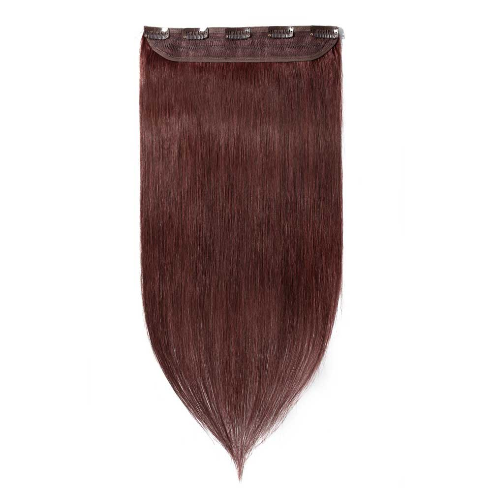 1 Piece Straight Clip In Remy Hair Extensions #33 Dark Auburn