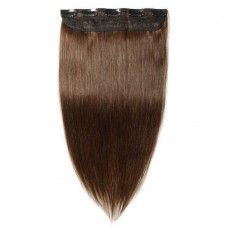 1 Piece Straight Clip In Remy Hair Extensions #4 Medium Brown