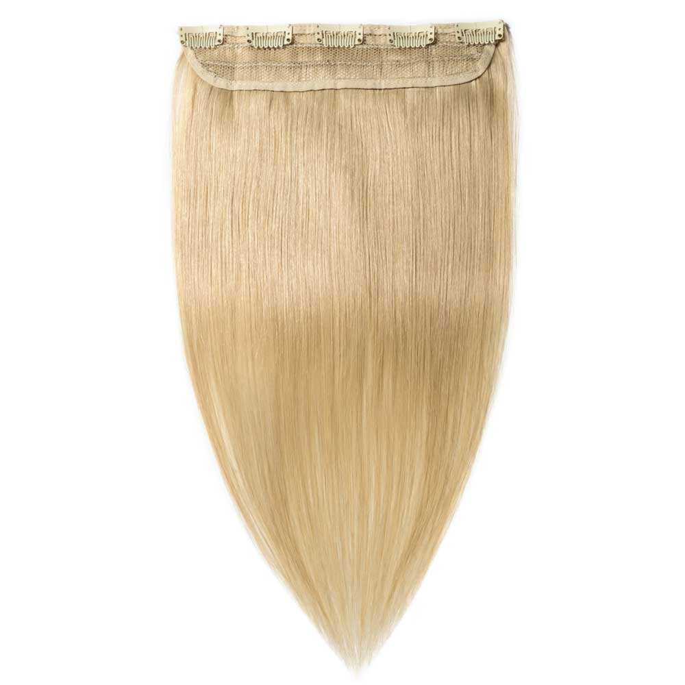 1 Piece Straight Clip In Remy Hair Extensions 613 Bleach Blonde