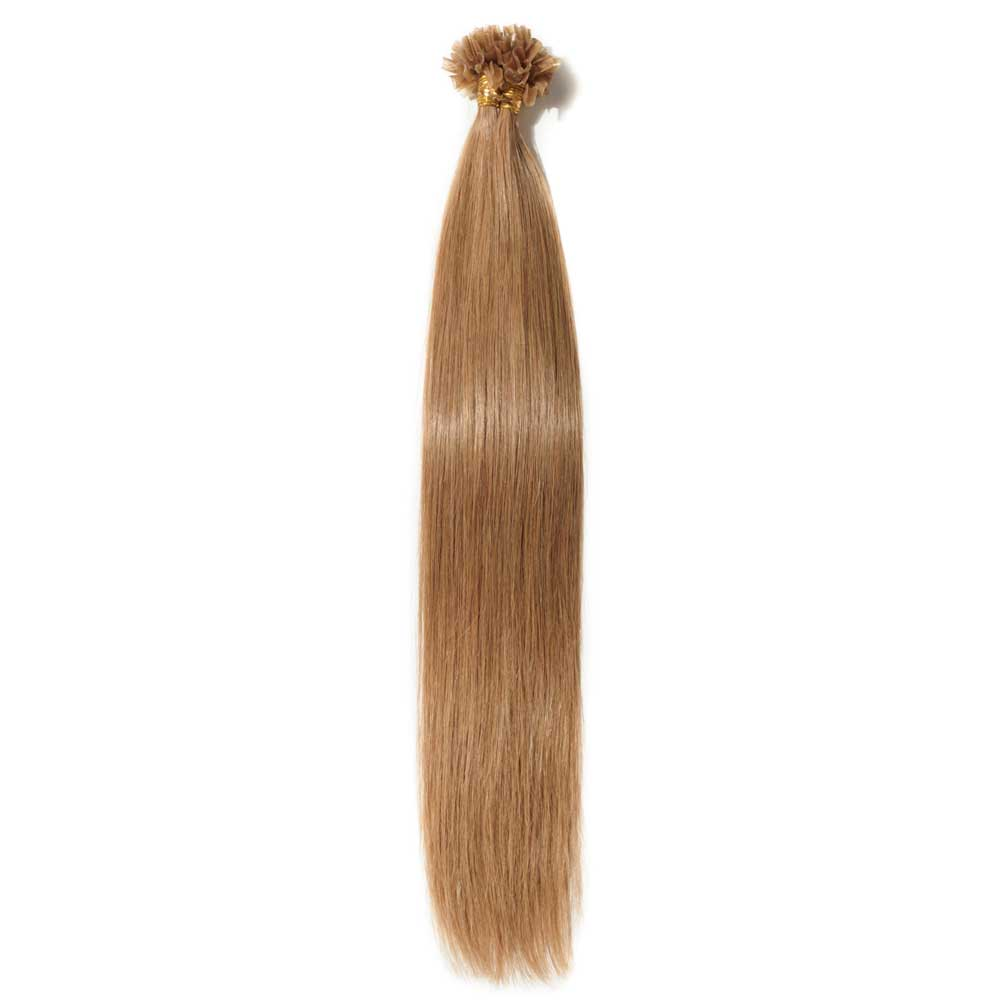 100s 0.5g/s Straight U-Tip Hair Extensions #12 Light Golden Brown
