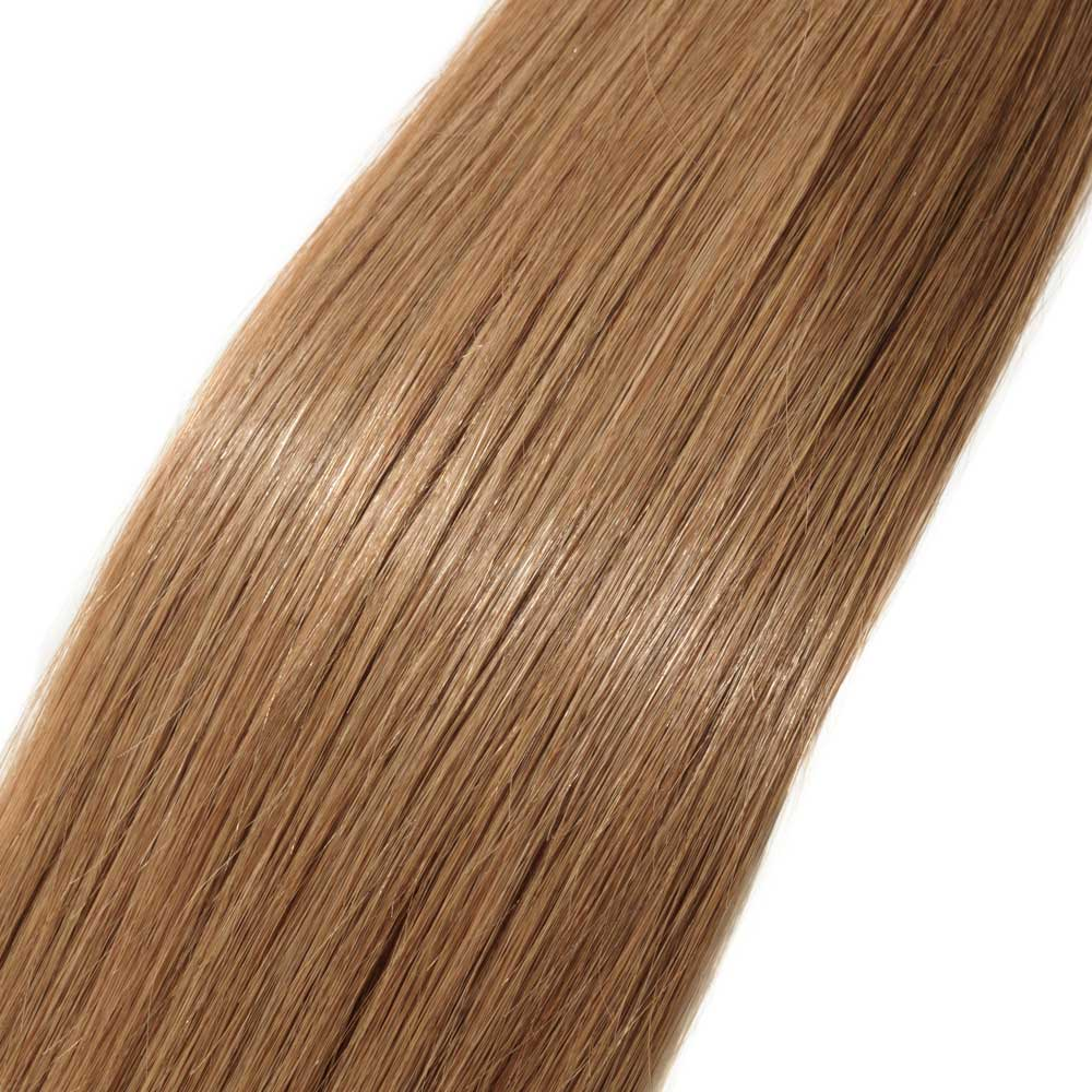 100s 05gs Straight U Tip Hair Extensions 12 Light Golden Brown