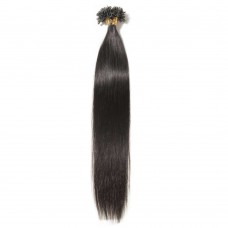 100s 0.5g/s Straight U-Tip Hair Extensions #1B Natural Black