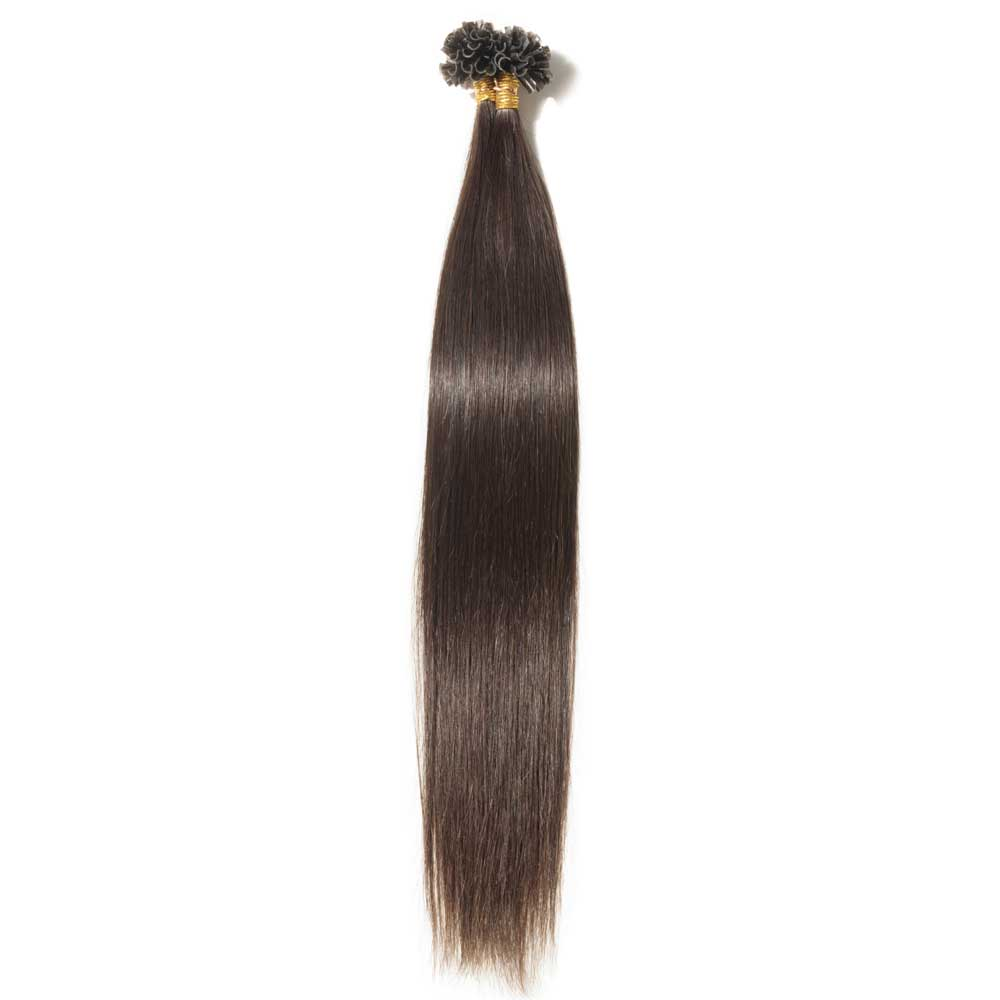 100s 0.5g/s Straight U-Tip Hair Extensions #2 Dark Brown