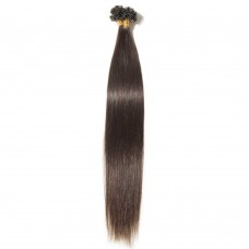 100s 0.5g/s Straight U-Tip Hair Extensions #2 Dark Brown