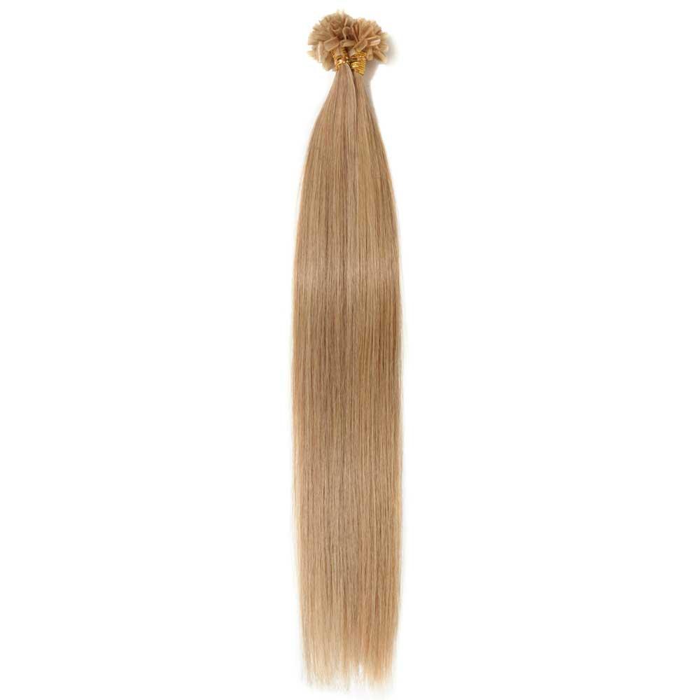 100s 0.5g/s Straight U-Tip Hair Extensions #27 Dark Blonde