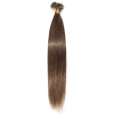 100s 0.5g/s Straight U-Tip Hair Extensions #4 Medium Brown
