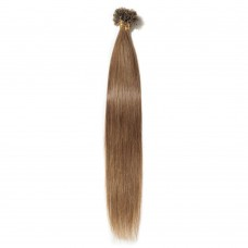 100s 0.5g/s Straight U-Tip Hair Extensions #6 Light Brown