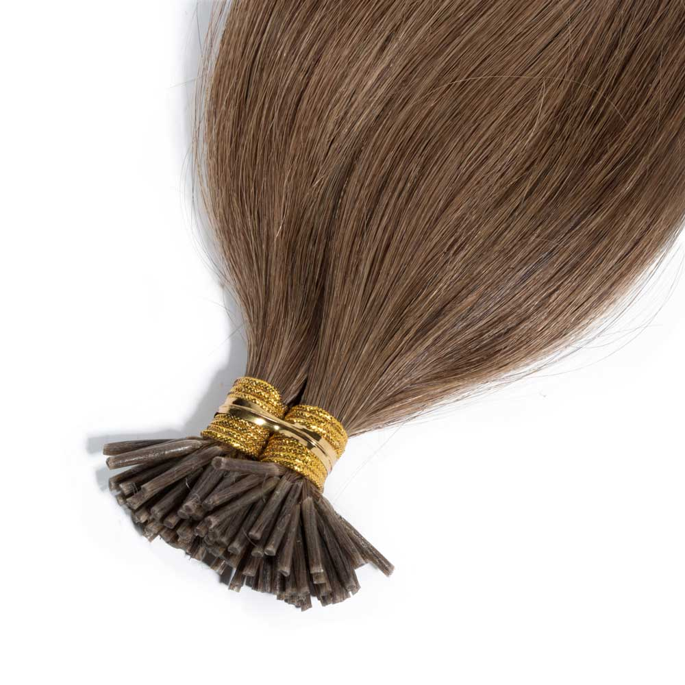 50g 05gs Straight I Tip Hair Extensions 24 Ash Blonde
