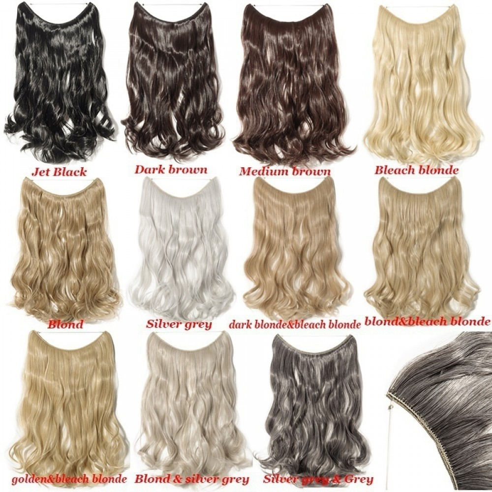 Curly Secret Wire Synthetic Hair Extensions M4 Medium Brown