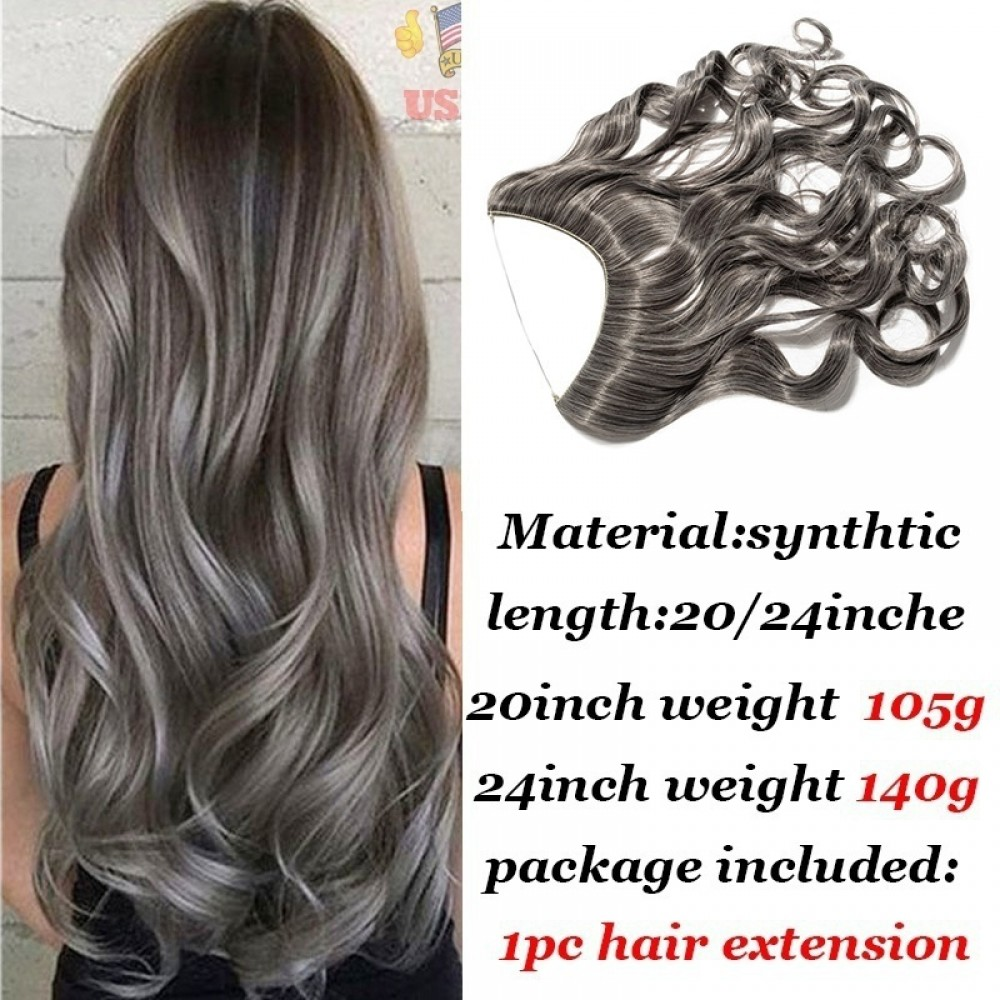Curly Secret Wire Synthetic Hair Extensions #M4 Medium brown