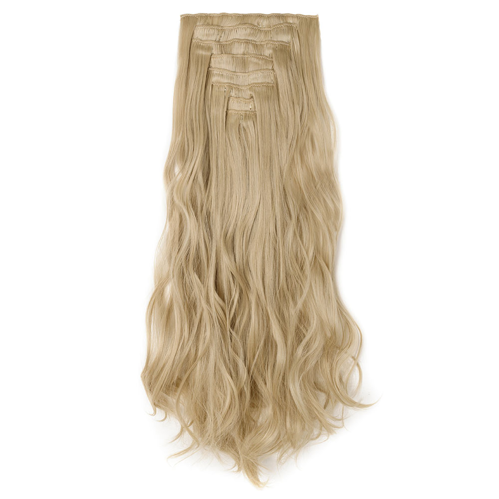 8 Pcs Curly Synthetic Clip In Hair Extensions 86613