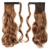 """17"""" 125g #30 Light Auturn Curly Synthetic Wrap Around Clip In Ponytail"""