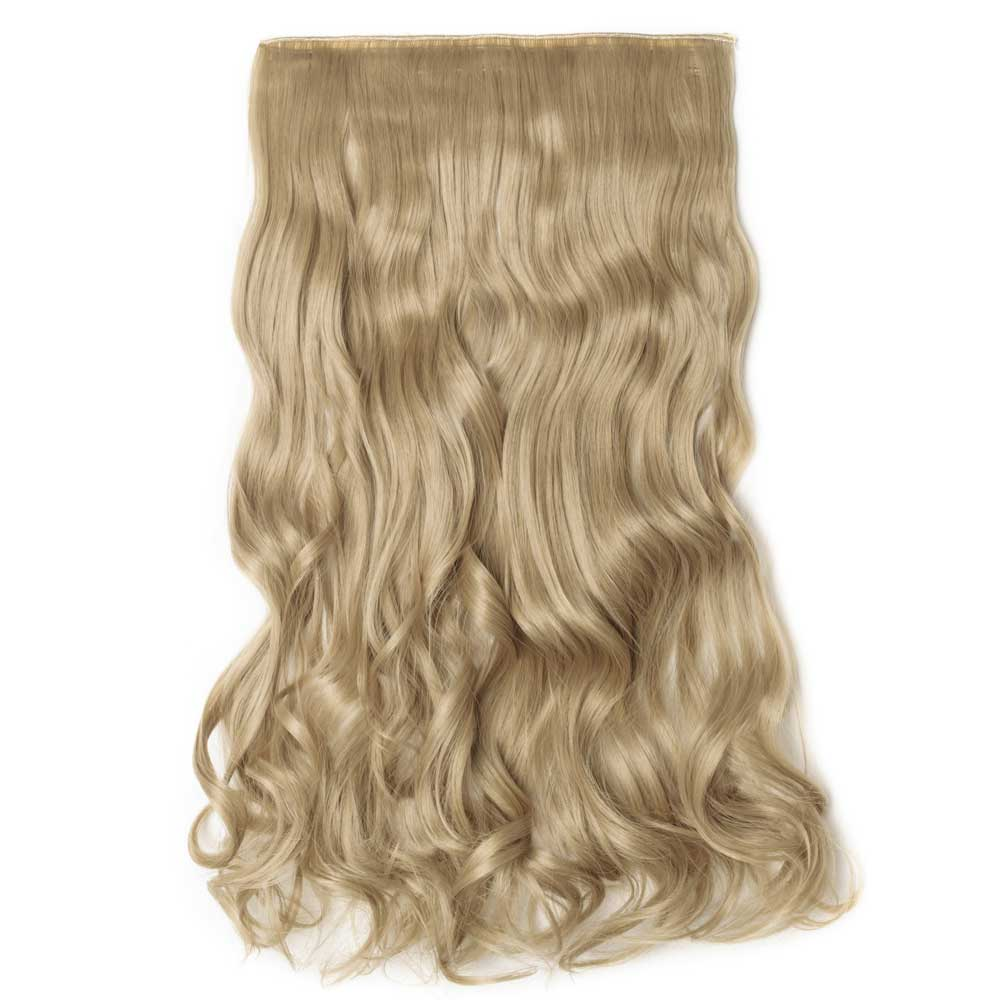 Piece curly synthetic clip in hair extensions 24 ash blonde 1 piece curly synthetic clip in hair extensions 24 ash blonde pmusecretfo Image collections