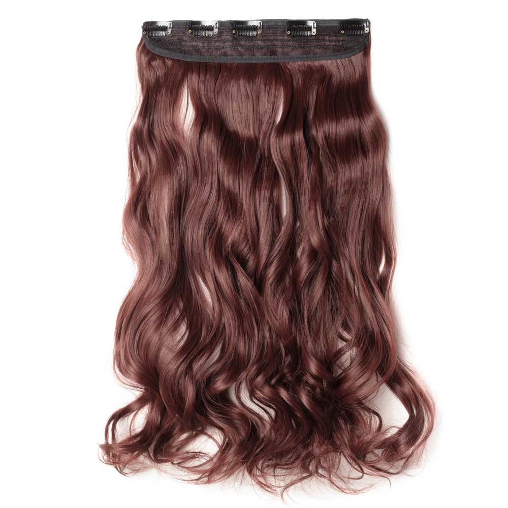 Piece curly synthetic clip in hair extensions 33 dark auburn 1 piece curly synthetic clip in hair extensions 33 dark auburn pmusecretfo Choice Image