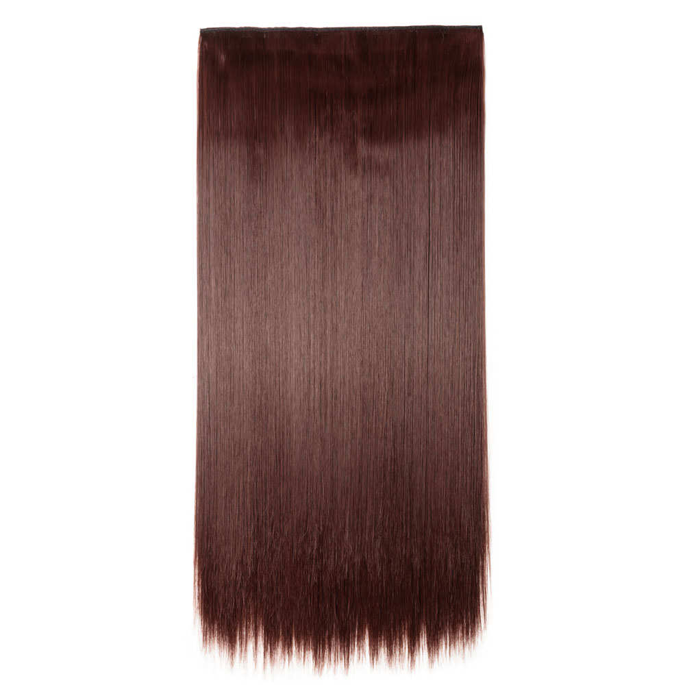 Piece straight synthetic clip in hair extensions 33 dark auburn 1 piece straight synthetic clip in hair extensions 33 dark auburn pmusecretfo Choice Image
