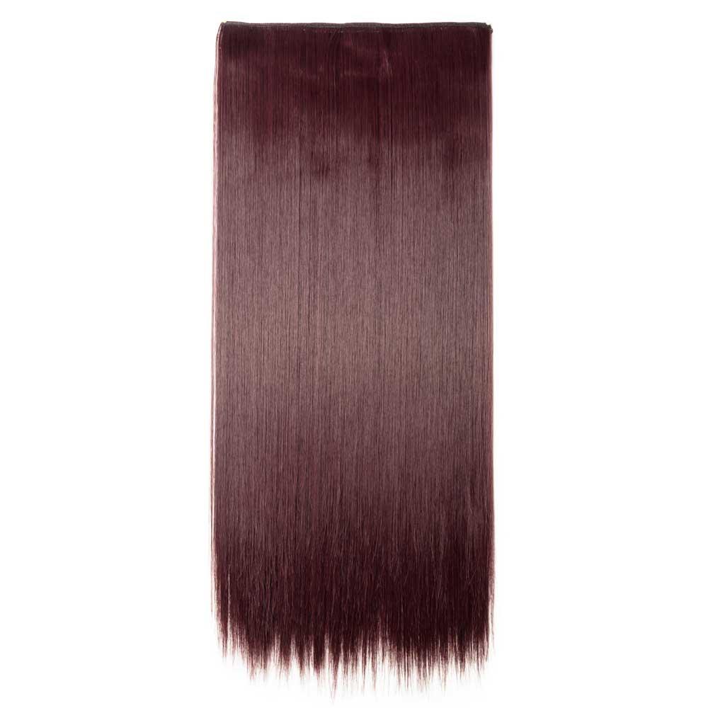 1 Piece Straight Synthetic Clip In Hair Extensions 110