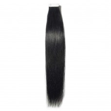 2.5g/s 20pcs Straight Tape In Hair Extensions #1 Dark Black