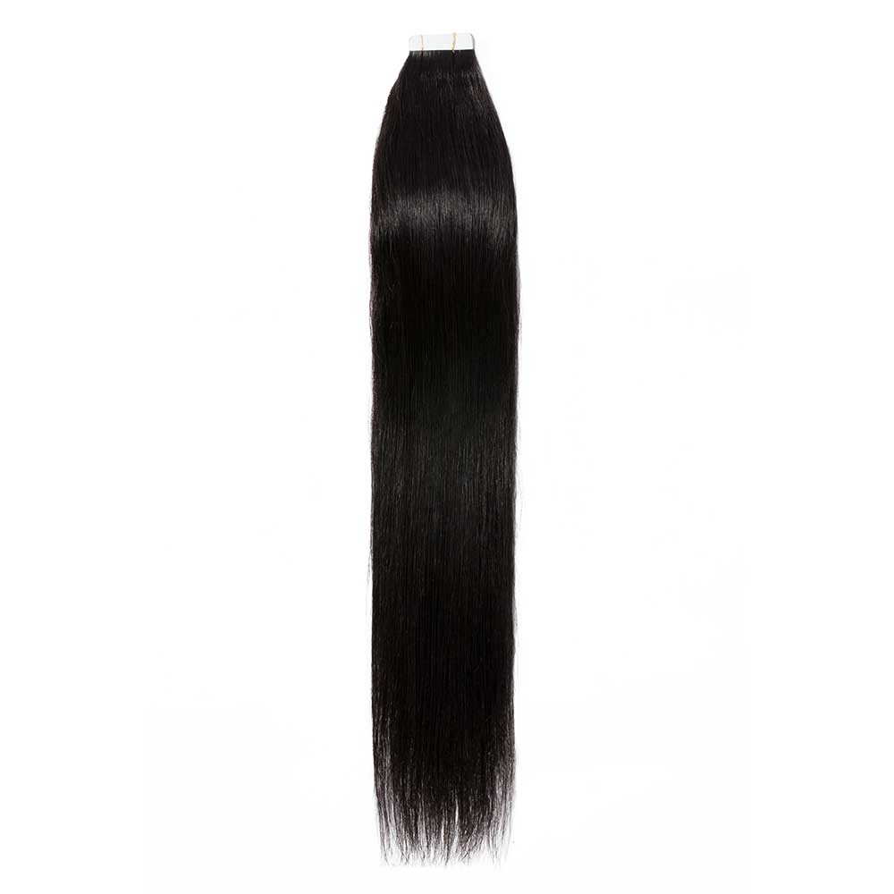 2.5g/s 20pcs Straight Tape In Hair Extensions #1B Natural Black