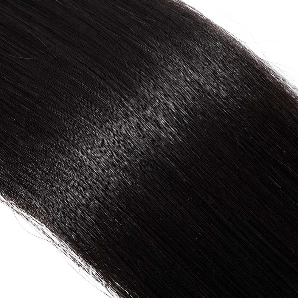 25gs 20pcs Straight Tape In Hair Extensions 1 Dark Black