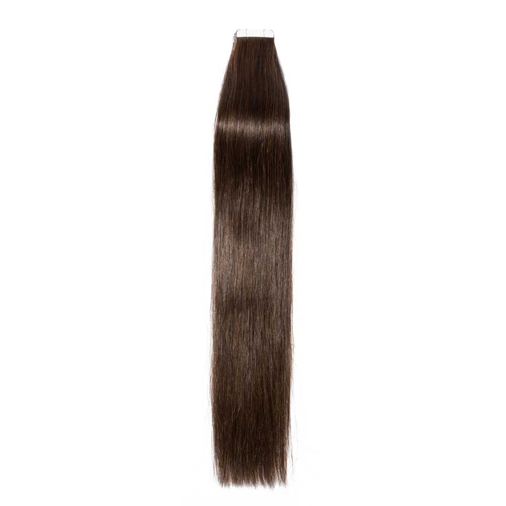 2.5g/s 20pcs Straight Tape In Hair Extensions #2 Dark Brown