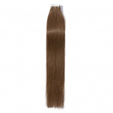 2.5g/s 20pcs Straight Tape In Hair Extensions #6 Light Brown