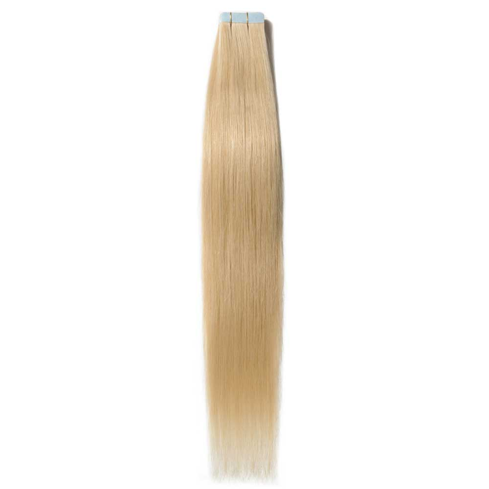 2.5g/s 20pcs Straight Tape In Hair Extensions #613 Bleach Blonde