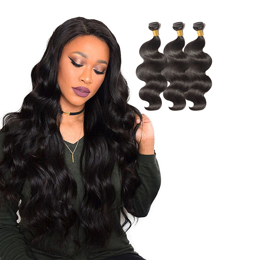 3 Bundles Body Wavy 6A Virgin Brazilian Hair 300g