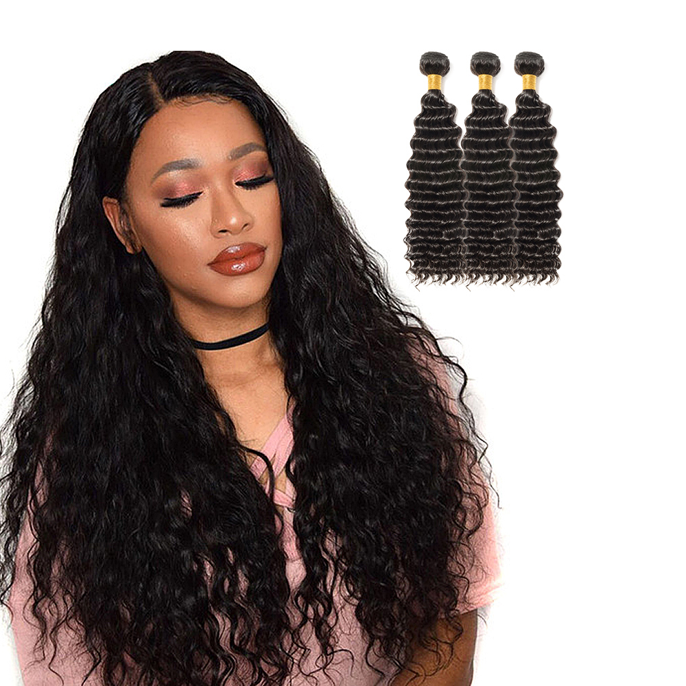 3 Bundles Deep Curly 6A Virgin Brazilian Hair 300g